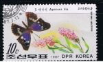 Sellos del Mundo : Asia : Corea_del_norte : Mariposas Apatura ilia