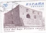 Stamps Spain -  zona del bajo pirineo catalán-castillo de Oix (Girona)