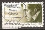 Sellos de Europa - Alemania -  150a muerte Aniv de Félix Mendelssohn-Bartholdy (compositor).