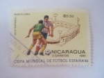 Sellos del Mundo : America : Nicaragua :  FUTBOL ESPAÑA
