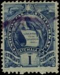 Stamps America - Guatemala -  Serie Armas de Guatemala.   1887.
