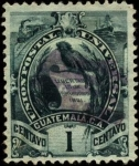 Stamps America - Guatemala -  Serie Armas de Guatemala.   1887