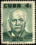 Sellos de America - Cuba -  Dr. Fco. Dominguez Roldan, pionero fisioterapeuta.