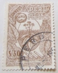 Stamps : America : Peru :  TUMBES PRIMERA ZONA PRODUCTORA DE TABACO NACIONAL