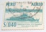 Stamps : America : Peru :  CAÑONERA FLUVIAL BAP MARAÑON OCTUBRE 3 DE 1951
