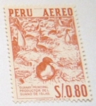 Stamps : America : Peru :  GUANAY PRINCIPAL PRODUCTOR DEL GUANO DE ISLAS