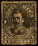 Stamps Costa Rica -  Cuadros variados, presidente B. Soto, sobrecargado GUANACASTE