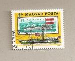 Sellos de Europa - Hungría -  Barco fluvial