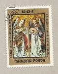 Stamps Hungary -  Angeles tocando el violín y laud