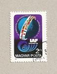 Stamps Hungary -  34 aniv. de la Federación Int. Astronaútica