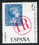 Stamps Spain -  1800- Día mundial del Sello. Marca de portero.