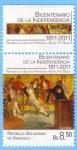 Stamps Venezuela -  Bicentenario de la Independencia 1811-2011