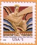 Stamps : America : United_States :  Wisdom, Rockefeller Center, NY
