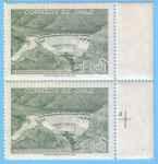 Stamps : America : Chile :  Central Hidroelectrica de Rapel