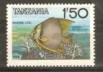 Stamps Tanzania -  PEZ   MARIPOSA