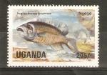 Sellos de Africa - Uganda -  HAPLOCHROMIS    BROWNAE