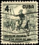 Stamps Cuba -  Joaquín de Aguero, lider de los patriotas en Grito de Jucaral 4/7/1851.