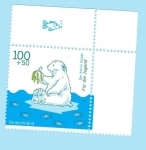Stamps Europe - Germany -  Dibujos Animados - El pequeño oso blanco (1887)           1/5