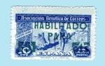 Stamps : Europe : Spain :  Cartero Rural - sobrecarga en verde