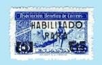 Stamps Spain -  Cartero Rural - sobrecarga en negro