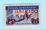 Stamps : Europe : Spain :  Cartero Rural - sobrecarga en rojo