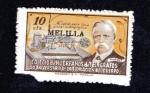 Stamps : Europe : Spain :  Efigie David Hughes - sobrecarga MELILLA