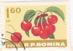 Sellos de Europa - Rumania -  cerezas