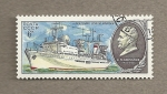 Sellos de Europa - Rusia -  Barco Cosmonauta Volkov