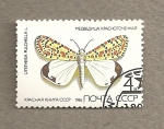Stamps Russia -  Mariposa Utetheisa pulchella