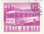 Stamps : Europe : Romania :  transporte - autocar