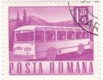 Sellos del Mundo : Europa : Rumania : transporte - autocar
