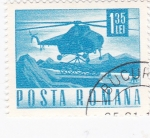 Stamps : Europe : Romania :  transporte - helicóptero