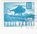 Sellos de Europa - Rumania -  transporte - helicóptero