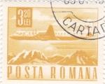 Sellos de Europa - Rumania -  transporte  -avión