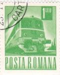 Sellos de Europa - Rumania -  transporte  -tren