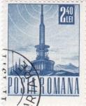 Stamps : Europe : Romania :  torre comunicaciones