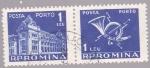 Stamps Romania -  edificio de correos