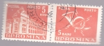 Sellos del Mundo : Europa : Rumania : edificio de correos