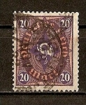 Stamps Germany -  Rep. Weimar / Corneta Postal.