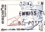 Stamps Spain -  Alfonso X el sabio 1252-1284  (A)
