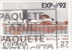 Sellos de Europa - España -  Expo-92 Sevilla  Pabellón de España    (A)