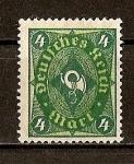 Sellos del Mundo : Europa : Alemania : Rep. Weimar / Corneta Postal.