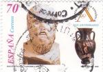 Sellos de Europa - España -  Busto Platón y cerámica griega   (A)