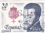 Stamps Spain -  Felipe II    (A)