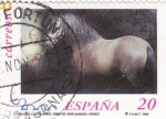 Stamps Spain -  caballos cartujanos( 3679 A)                (A)