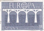 Stamps Spain -  1959 EUROPA 1984   (A)