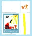 Sellos del Mundo : Europa : Alemania : 25 Años de apoyo Aldeas Infantiles