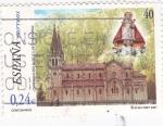 Stamps Spain -  Basílica de Covadonga       (A)