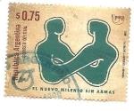 Stamps : America : Argentina :  Un nuevo milenio sin armas