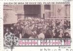 Stamps Spain -  Cine español-Salida de misa de doce del Pilar de Zaragoza    (A)